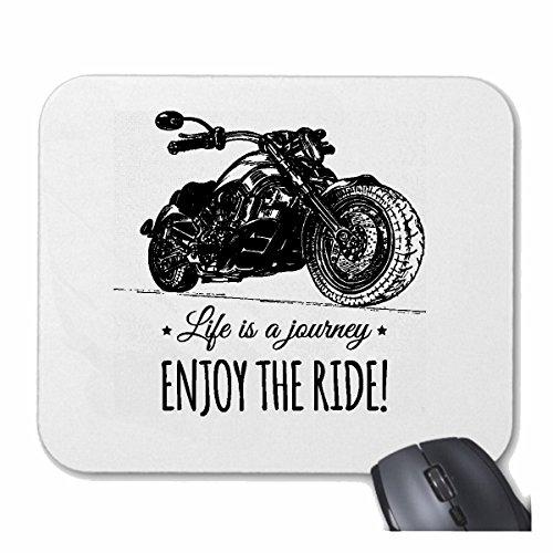 Reifen-Markt Mousepad (Mauspad) Custom Bike Enjoy The Ride Rocker Biker Motorradclub Motorradfahrer Chopper Custom Bike MC Route 66 für ihren Laptop, Notebook oder Internet PC (mit Windows Linux usw.