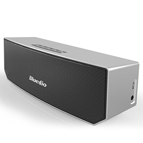 Bluedio BS-3 (Camel) Portable Bluetooth Wireless Stereo Speaker with Microphone for Calls,Silver