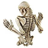 Design Toscano Ascending Evil Climbing Skeleton Gothic Wall Sculpture, 21 Inch, Faux Bone Finish