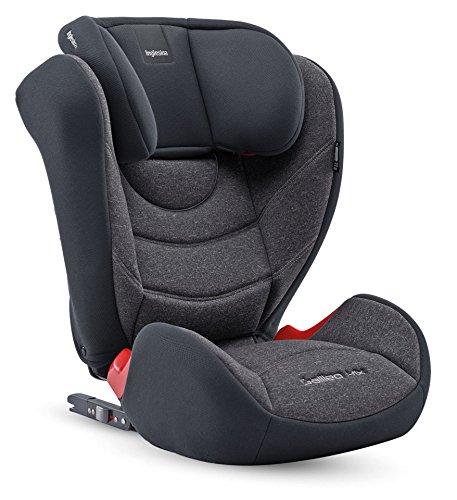 Inglesina Galileo I-Fix Seggiolino Auto, Gruppo 2/3 (15-36kg), per Bambini dai 3 a 12 Anni circa, Nero