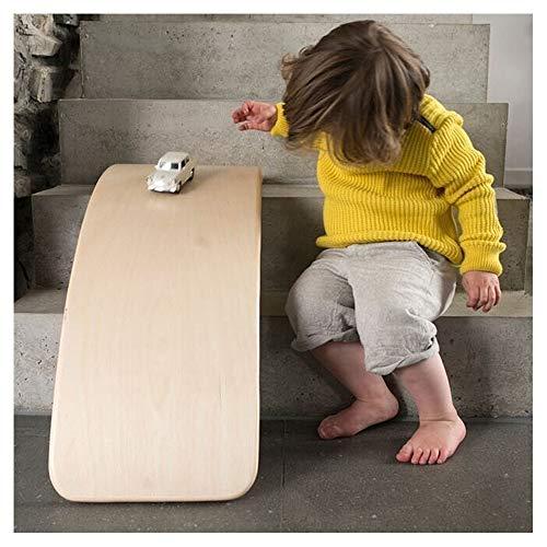 HOXMOMA Kinder Balance Board, Gebogenes hölzernes Yoga Brett, Indoor Swing Balance Board, Kinderspielzeug zur Verbesserung der sportlichen Fähigkeiten
