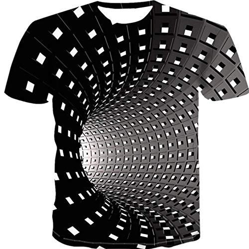 Sommer MäNner 3D Mehrfarbig Mesh Digitaldruck Rundhalsausschnitt Lose DüNne Abschnitt LäSsig Groß GrößE Kurzarm T-Shirt