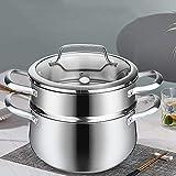 CCTA 304 vapor del acero inoxidable bombo 2 Nivel de acero inoxidable utensilios de cocina al vapor Pot Saucepot una sola capa, doble capa de la caldera de vapor de cocina Inicio Pot Set Pan Pot Estab