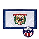 Vispronet - West Virginia State Flag - 3ft x 5ft Knitted Polyester, State Flag Collection, Made in The USA (Flag Only)