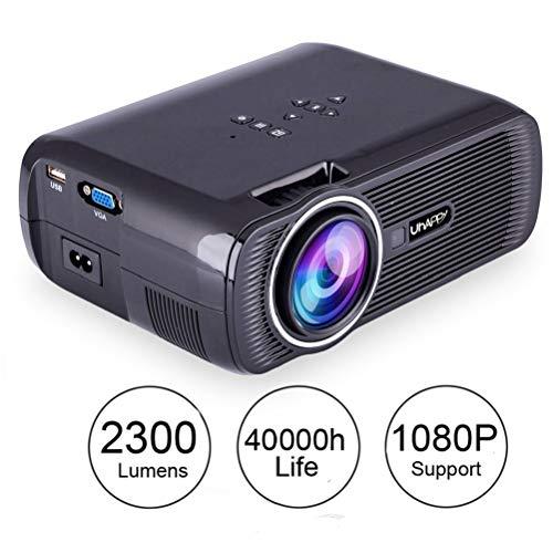 Mini 1080P Full HD Portatile Proiettore,2500 Lumens/130 Inch/50000 Ore,Home Theater Proiettori,Compatibile con Amazon Fire TV Stick,Laptop,Iphone,Smartphone Android
