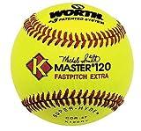 Worth K-Master Red Stitch Yellow Super-Hyde Softballs from (One Dozen)