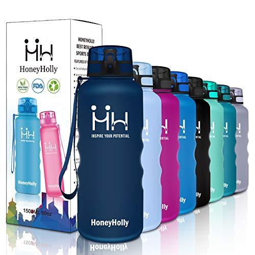HoneyHolly Botella de Agua Deportes 1500ml Sin Bpa &