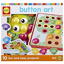 Best Toys for 4 Year Old Girls-ALEX Discover Button Art