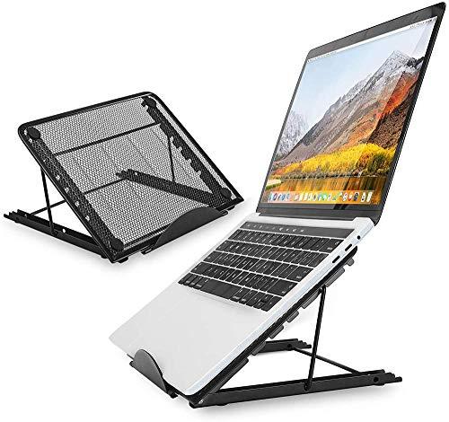 LZGBH Soporte para computadora portátil, Soporte para computadora portátil de aleación de Aluminio ventilado Ajustable para Escritorio, Soporte para computa.