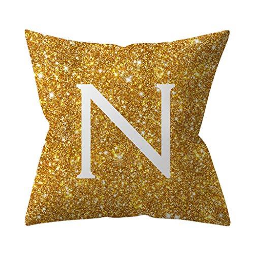 Arystk Pillow Cases 45x45cm Kinderzimmer Dekoration Brief Kissen Englisch Alphabet Cushion Cover