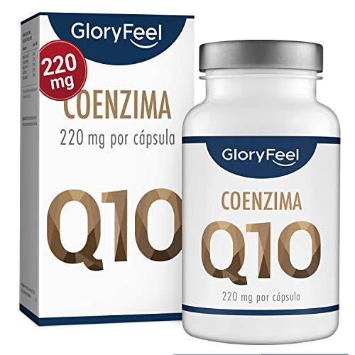 GloryFeel Coenzima Q10-220mg por Cápsula - 120 Cápsulas veganas - Máxima Absorción y Biodisponibilidad - 100% Pura Fermentada Naturalmente - No GMO - Sin Aditivos - Suministro para 4 meses