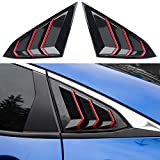 Thenice for 10th Gen Civic Racing Style Rear Side Window Louvers Air Vent Scoop Shades Cover Blinds for Honda Civic Sedan 2020 2019 2018 2017 2016 -Carbon Fiber Red