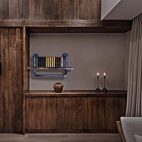 Estantes de pared flotantes rústicos modernos de 1 nivel. Estante de madera montado en la pared para exhibición, libros, almacenamiento y decoración, para baño, oficina, sala de estar