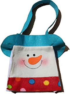 COAFIT Candy Bag Cartoon Snowman Tote Gift Bag Party Favor Bag for Christmas