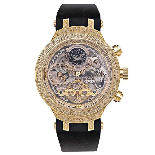 Joe Rodeo Diamond Reloj de los Hombres–Master Oro 2,2ctw