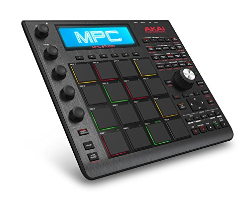AKAI Professional MPC Studio Slimline Music Production USB MIDI Controller, Schwarz