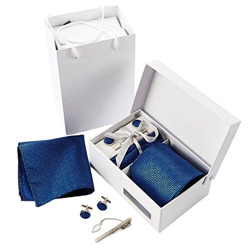 Fascigirl Cravatta Set, Business Tie Pocket Square Tie Bar Set Regalo Gemello per Uomo