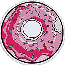 Toalla de Playa Redonda Grande Donut Rosa Rosquilla Homer