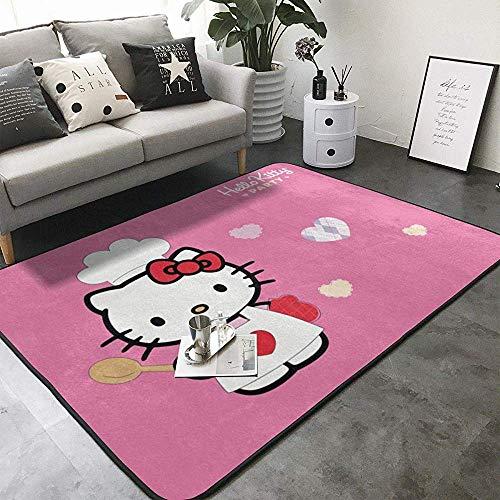Balance-Life Super Doux Dessin animé à Motifs Tapis de Chambre de bébé Hello Kitty Tapis pour Enfants Chambre décor à la Maison Tapis de Chambre de bébé
