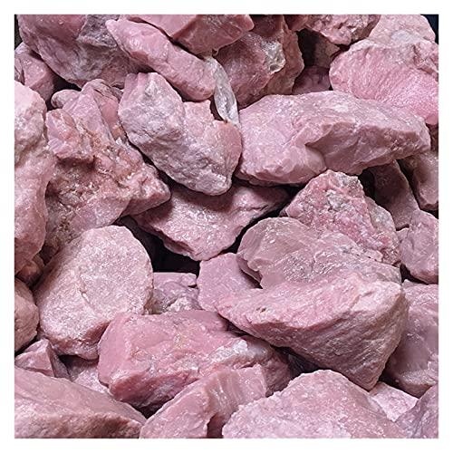 YSJJDRT Cristal Natural Rugoso Polla de Tallado de ópalo Rosa Natural Materias primas Decoración del hogar Accesorios de Cristal Piedra Espécimen Mineral áspero (Color : 1000g, Size : Random Size)
