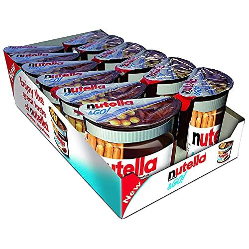 Nutella & Go Hazelnut Chocolate Spread with Breadsticks, 48 g, Pack of 12