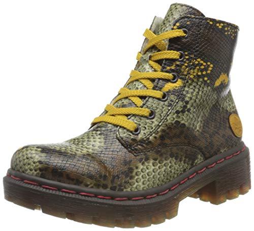 Rieker Damen Y8746 Mode-Stiefel, Terra Gelb Honig, 40 EU