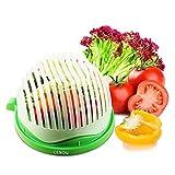 Salatschneider, 60 Sekunden Salatschneider Food Grade ABS Bequem für Hacken Gemüse, Obst, Fleisch...
