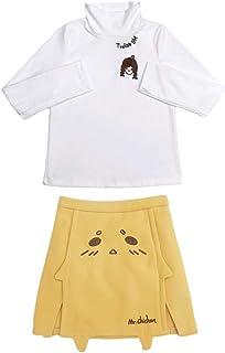 レディース トップス スカート セットアップ 可愛い プリント 長袖シャツ パーカー ハイネック ミニ丈 台形 着痩せ ロリータ 大きいサイズ