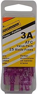 Bussmann (VP/ATC-3-RP) Violet 3 Amp 32V Fast Acting ATC Blade Fuse, (Pack of 25)