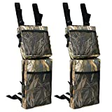 Everrich 2 Pack ATV Fender Bag, Snowmobile ATV Tank Saddlebags, Universal Rear Storage Bag for ATV UTV Dirt Bike