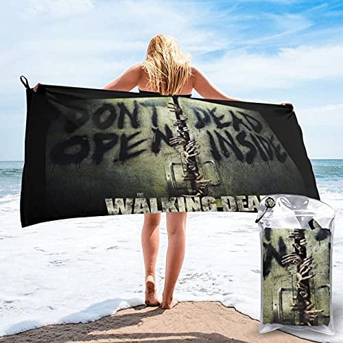 The Walking Dead Door Of The Seal Towel Set de toallas de secado rápido para playa, viajes, piscina, camping, al aire libre y toalla deportiva, ligera, compacta y arena de 27.5 x 55 pulgadas