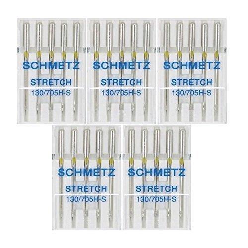 25 Schmetz Stretch Sewing Machine Needles 130/705H H-S Size 75/11