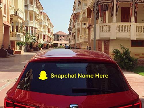 Lplpol Vinyl Decal/Sticker, 2X Custom Snapchat Name Vinyl Decals, Custom Social Media Sticker | Username | Hashtag, Snapchat Name, Snapchat Decal, Snapchat Sticker, Car Window Laptop Decal 6 Inch