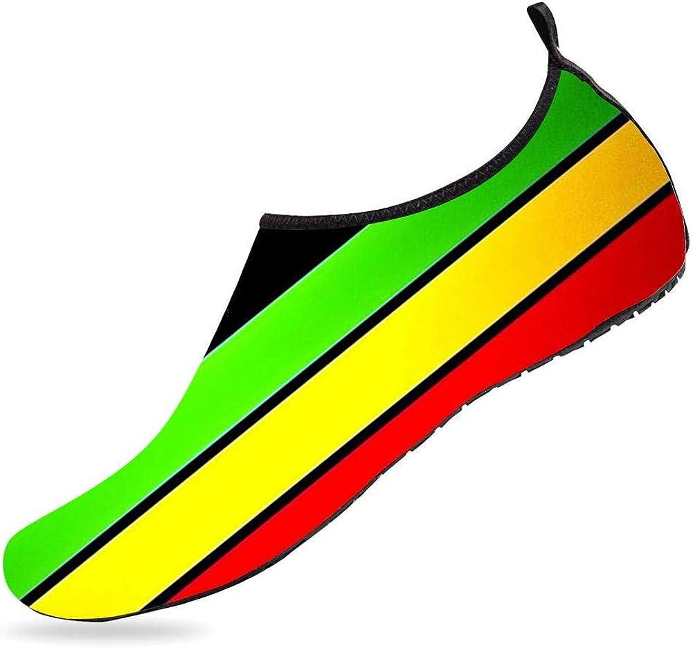 BEOT 3D Printed Water Sports Shoes Barefoot Quick-Dry Fish Scales Aqua Yoga Socks for Men Women