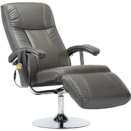 Vidaxl Massagesessel Mit Massage Heizung Elektrisch Relaxsessel Fernsehsessel Tv Sessel Ruhesessel Liegesessel Relaxliege Grau Kunstleder Amazon De Kuche Haushalt