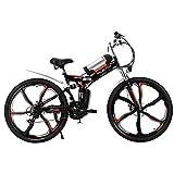 household items Bicicleta Plegable eléctrica de montaña de 26 Pulgadas, Scooter eléctrico portátil con batería de Litio, Tres Modos de conducción, Carga 140 KG