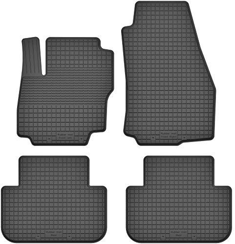 KO-RUBBERMAT Gummimatten Fußmatten 1.5 cm Rand geeignet zur Ford C-MAX I II (Bj. 2003-2019) ideal angepasst 4 -Teile EIN Set