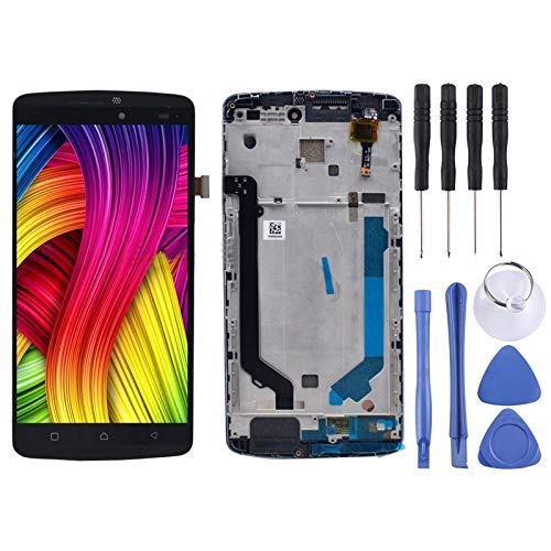 Zhangli Mobile Phone LCD Screen LCD Screen and Digitizer Full Assembly with Frame for Lenovo K4 Note / A7010 (Black) LCD Screen (Color : Black)