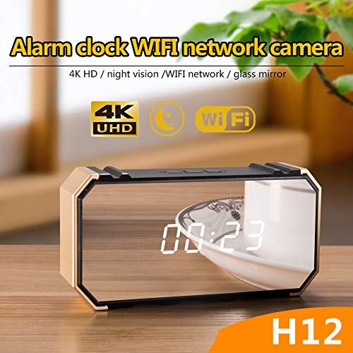 LEEBA - Reloj Despertador con cámara espía Oculta, 1080P HD WiFi inalámbrico con visión Nocturna, ángulo Amplio de 140 Grados, Red de Seguridad de grabación en Bucle