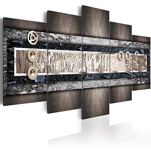 murando Tableau Acoustique Abstrait 200x100 cm Impression sur Toile Image 5 Pieces Tableaux murals Absorption Acoustique Tableau Decoration Murale 020101-155