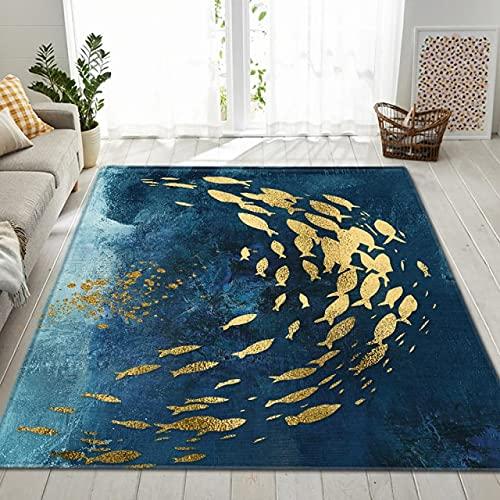 Alfombra de estilo nórdico 3D para dormitorio de piel sintética patrón salón cocina piso alfombra alfombra oro mariposa sala de estar