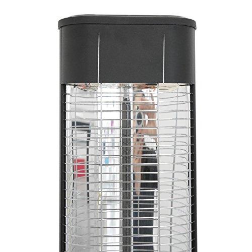 VASNER StandLine 25R Infrarot Stand-Heizstrahler – schwarz – 2500 Watt, 4 Stufen Dimmer, Fernbedienung, Terrassenstrahler elektrisch, Infrarotstrahler - 6