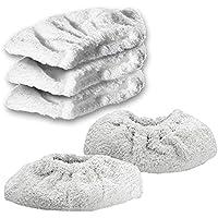 Spares2go. Gamuza de toalla de algodón, almohadillas para limpiador a vapor Karcher. Herramienta de mano (paquete de 5 o 10) 5 Pad Covers