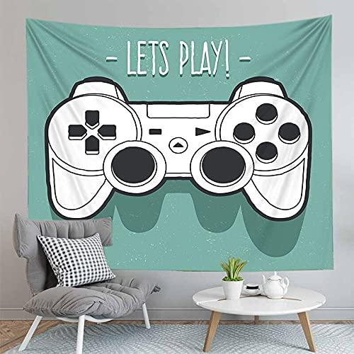 PPOU 3D Gamers Print Wall arazzo Modello esplosione Gamepad Neon decorazione murale sfondo panno arazzo panno A7 150x200cm