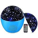 MOSUO Lampada Proiettore Stelle Bambini LED Luce Notturna, Proiettore Cielo Stellato Oceano USB Ricaricabile Luci Notte con Altoparlante Bluetooth&Telecomando 16 Colori per Vivai Compleanno Natale