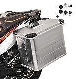 Maletas laterales aluminio Bagtecs 1 x 45l + Kit de montaje para portamaletas de 16mm para BMW F 650/ ST/GS/GS Dakar/CS Scarver, F 700 GS, F 800 S/ST/R/GT/GS/GS Adventure, G 310 GS/R, G 450 X