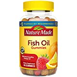 Nature Made Fish Oil Gummies with Heart-Healthy Omega 3s 57 mg, in Delicious Strawberry, Lemon, & Orange, 90 Count