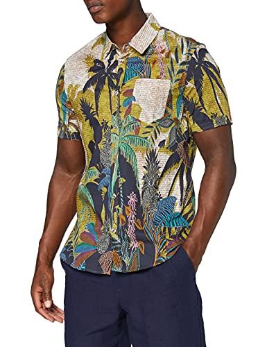 Desigual CAM_Alfredo Camiseta, Amarillo, S para Hombre
