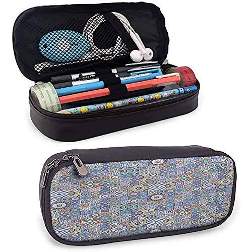 Smiggle marroquí Estuche de lápices Cuadrículas de estilo Cuadrados Elementos geométricos ornamentales...