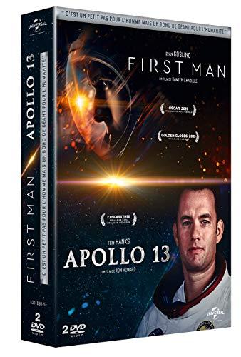 Coffret à la conquête de la lune 2 films : first man - le premier homme sur la lune ; apollo 13